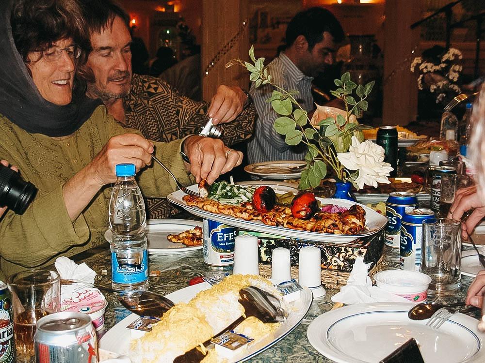 Tourist in Iranian Restaurants